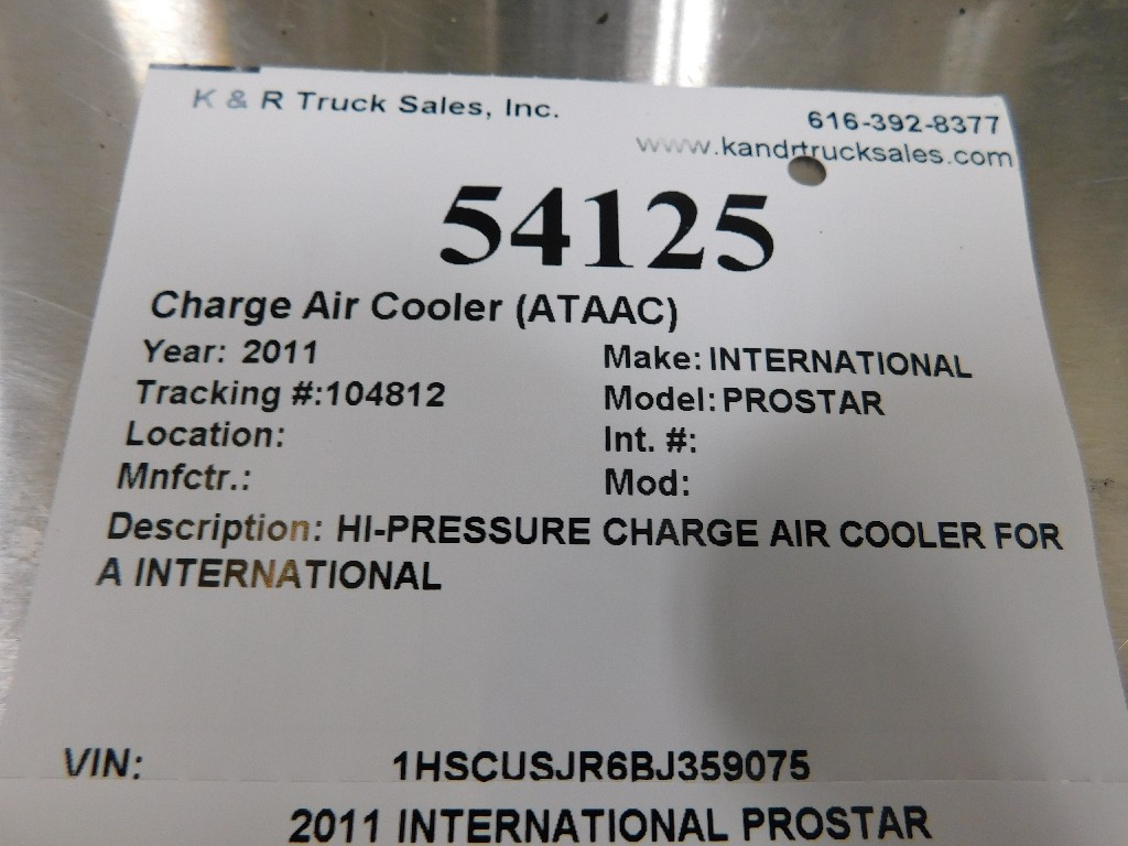 Charge Air Cooler (ATAAC) for 2011 INTERNATIONAL PROSTAR for sale-59217465