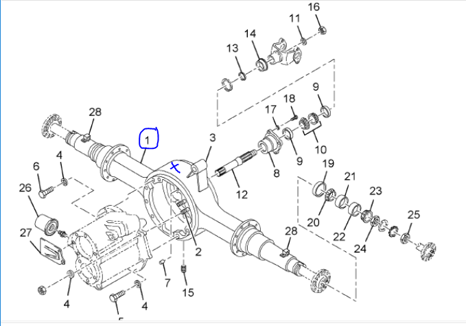 Axle Housing for 2017 INTERNATIONAL 9900 for sale-59084002