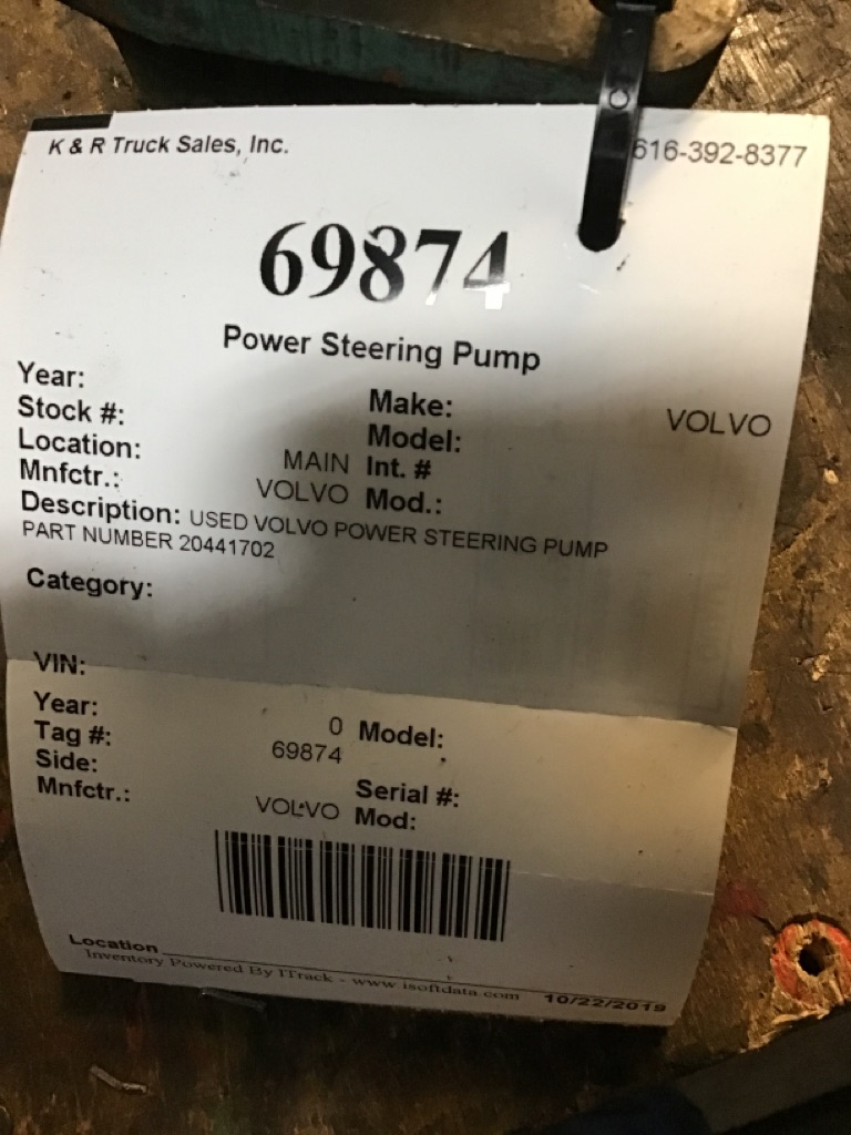 Used Steering Pump for  VOLVO for sale-59336078