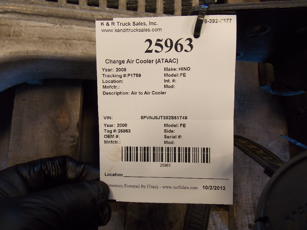 Charge Air Cooler (ATAAC) for 2008 HINO FE for sale-59070516