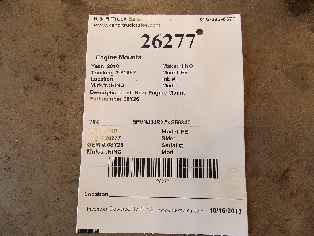 Engine Mounts for 2010 HINO FE for sale-59070544