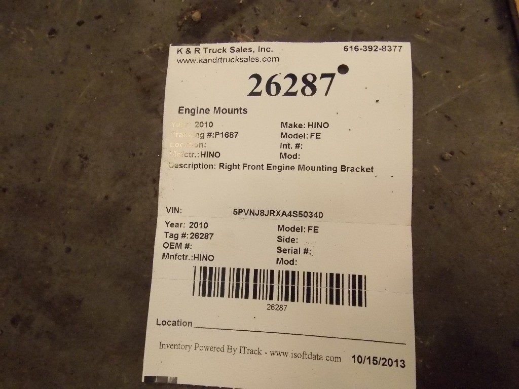 Engine Mounts for 2010 HINO FE for sale-59070545