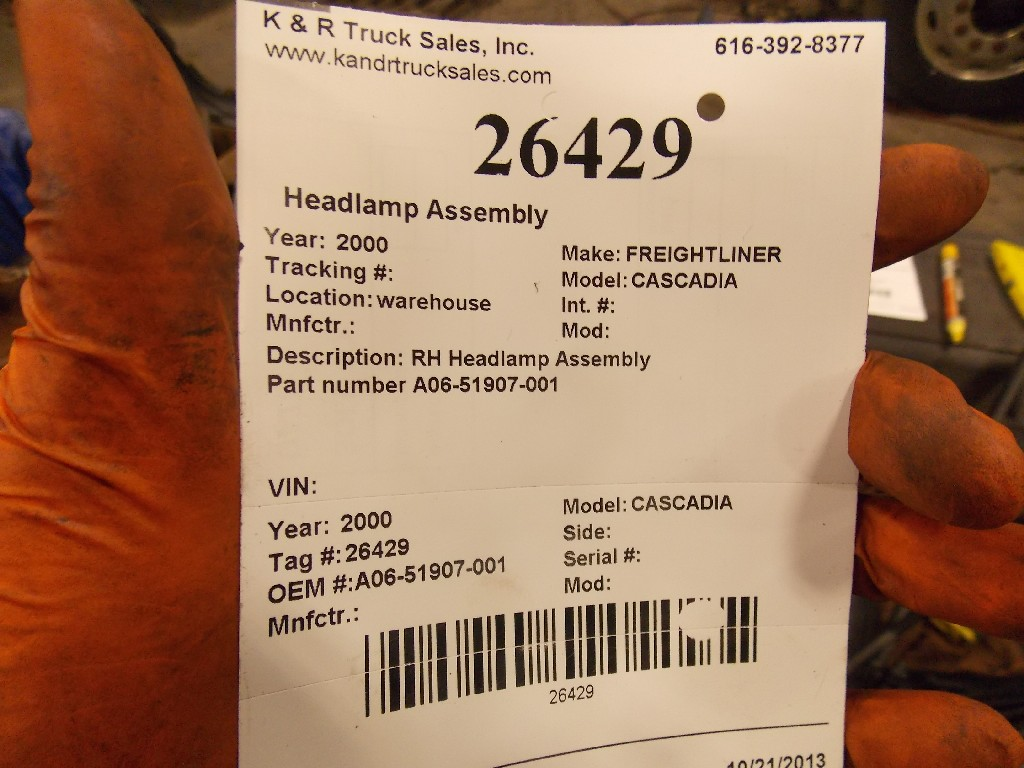 Headlamp Assembly for 2010 FREIGHTLINER CASCADIA for sale-59070555