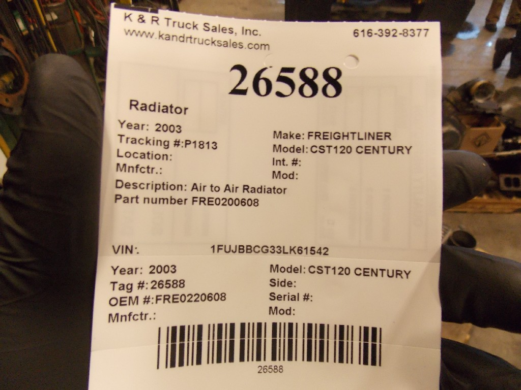 Charge Air Cooler (ATAAC) for 2003 FREIGHTLINER CST120 CENTURY for sale-59070565