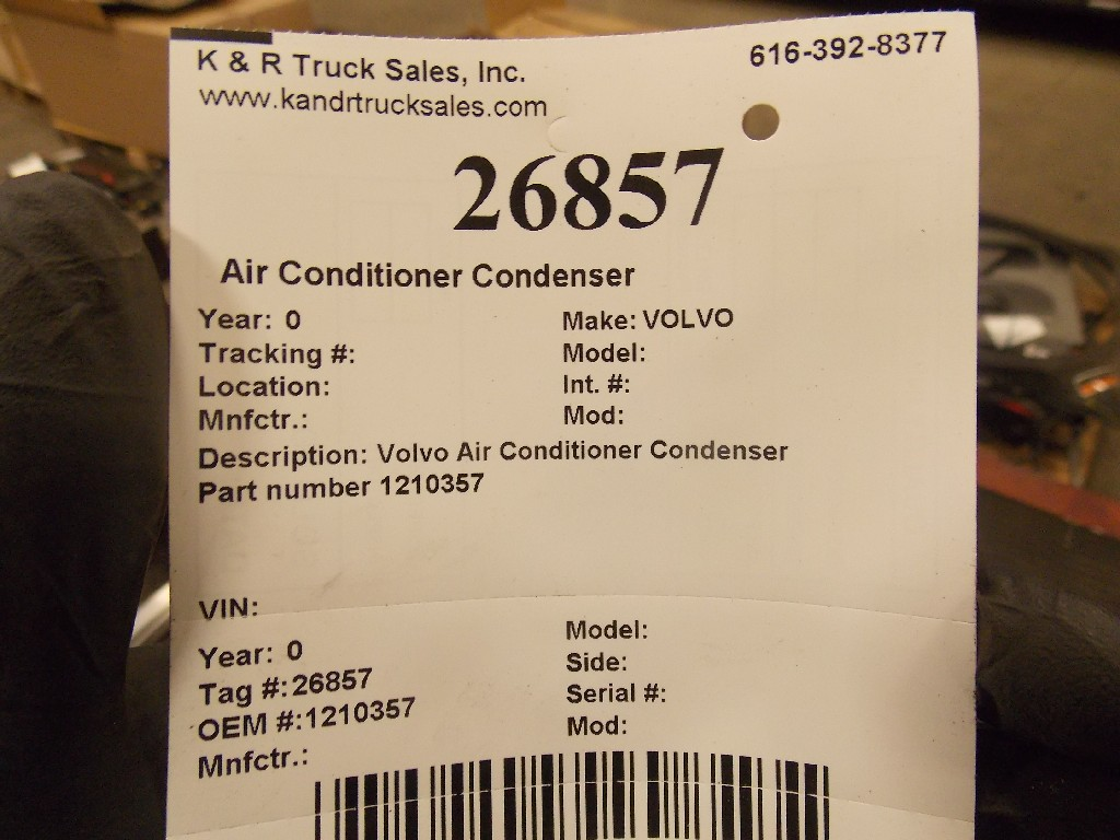 Air Conditioner Condenser for  VOLVO for sale-59070584