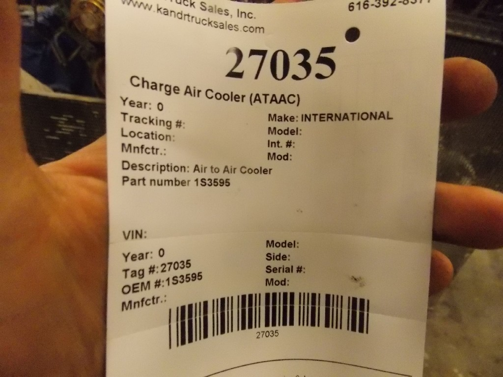 Charge Air Cooler (ATAAC) for 2001 INTERNATIONAL 9200 for sale-59070599