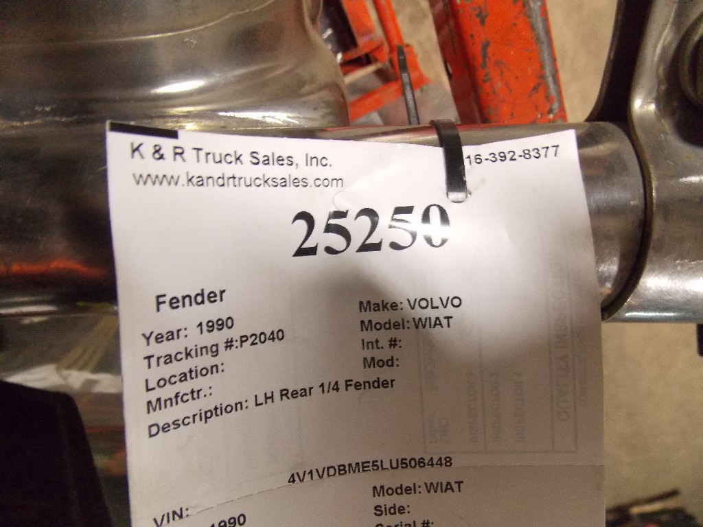 Fender for 1990 VOLVO WIAT for sale-59070463