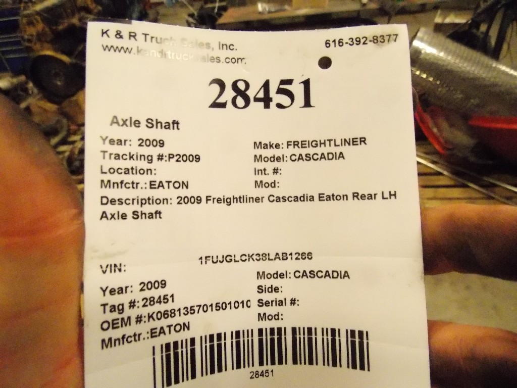 Axle Shaft for 2009 FREIGHTLINER CASCADIA for sale-59080658