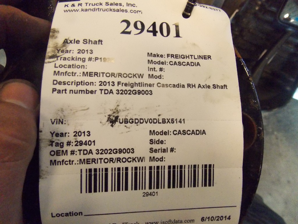 Axle Shaft for 2013 FREIGHTLINER CASCADIA for sale-59080729