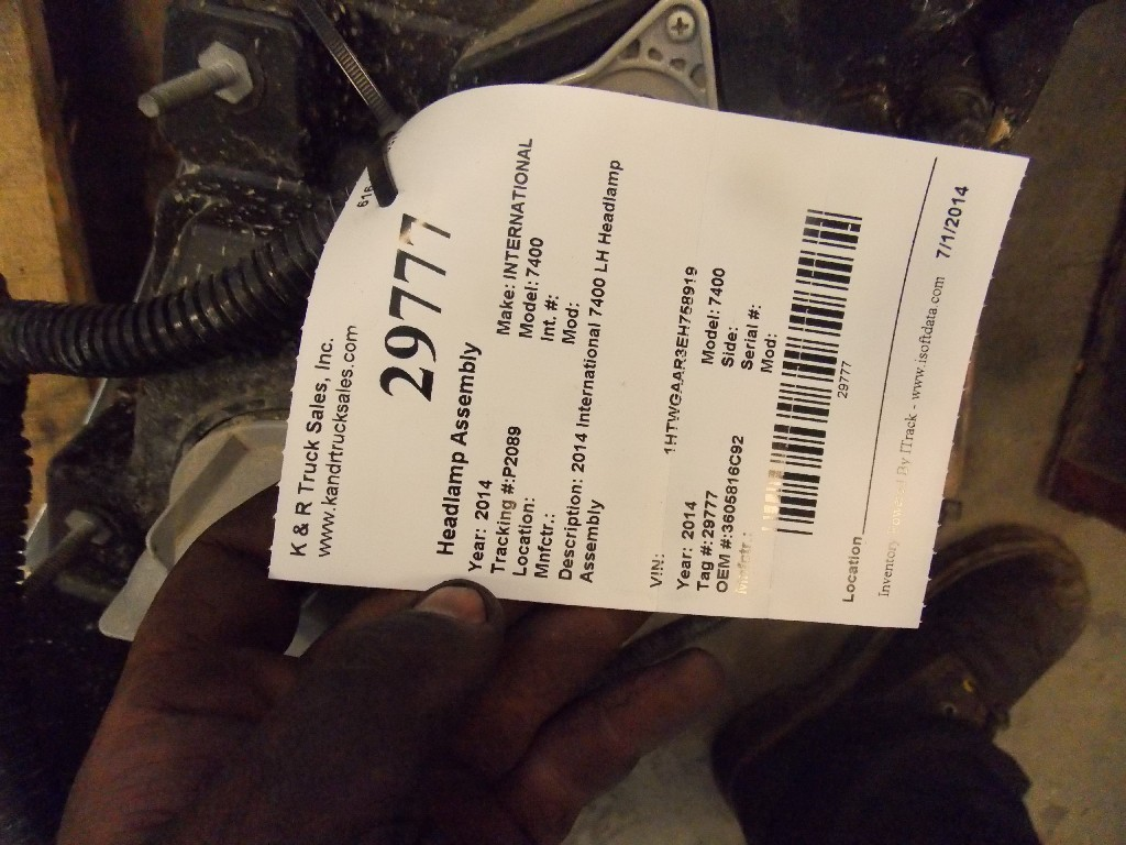 Headlamp Assembly for 2014 INTERNATIONAL 7400 for sale-59080756