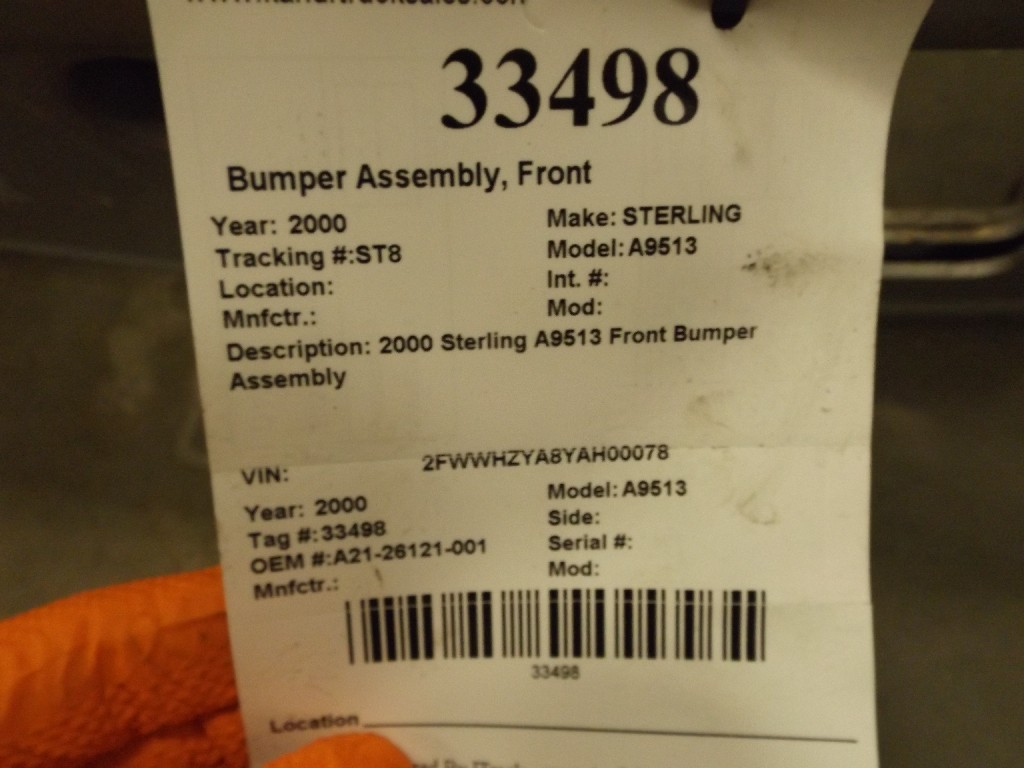Bumper Assembly for 2000 STERLING A9513 for sale-59053427
