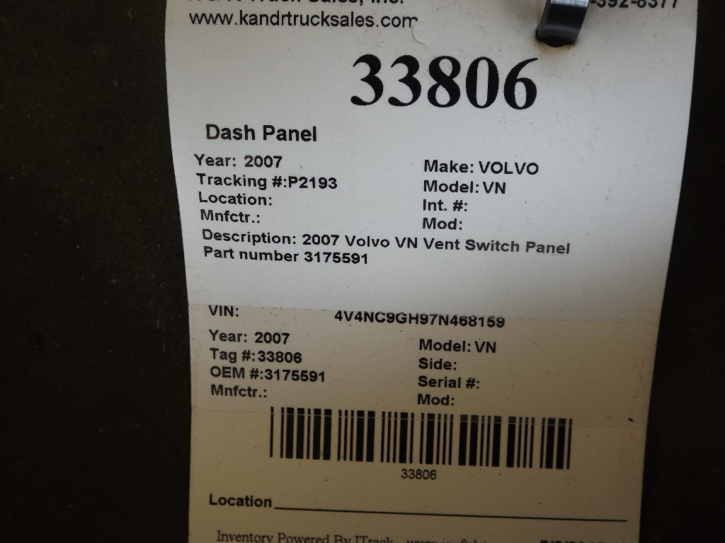 Dash Panel for 2007 VOLVO VN for sale-59053467