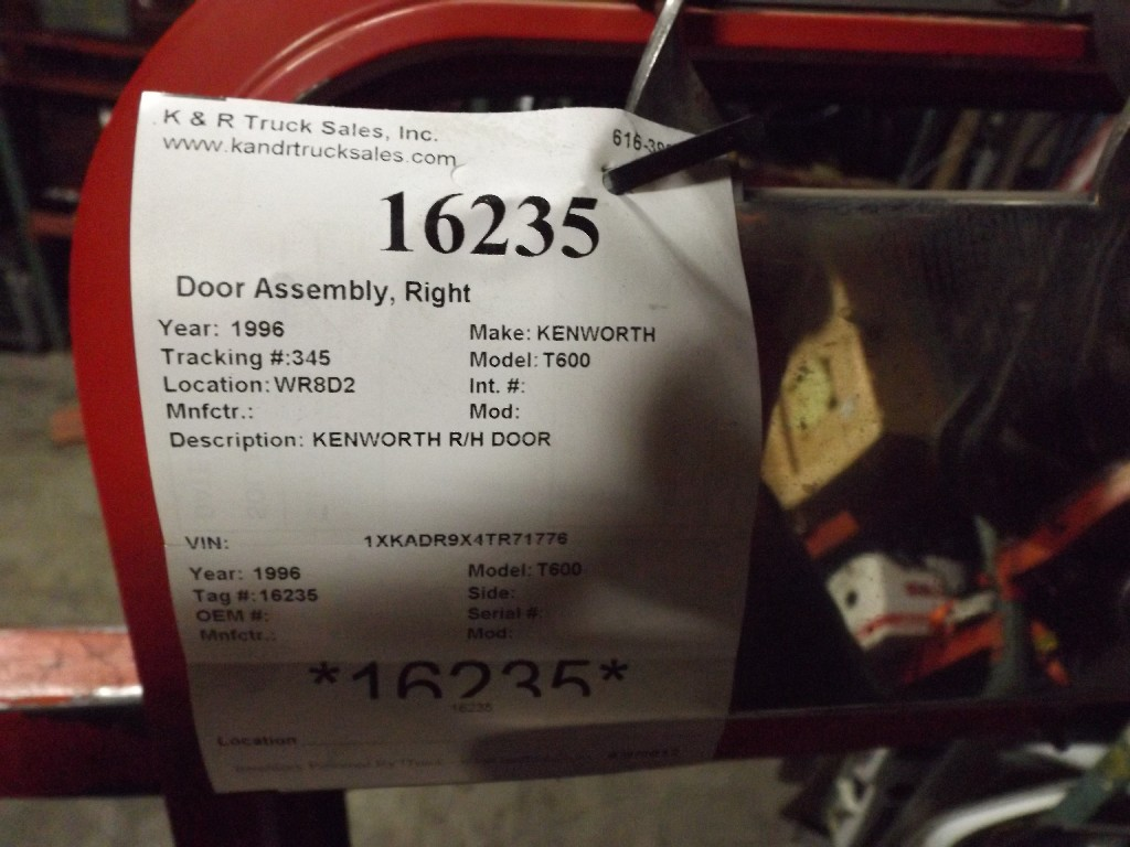 Door Assembly for 1996 KENWORTH T600 for sale-59069823
