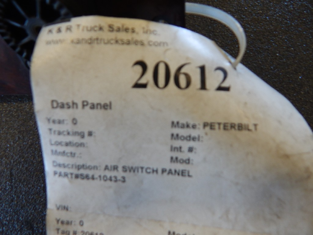 Dash Panel for  PETERBILT for sale-59080103