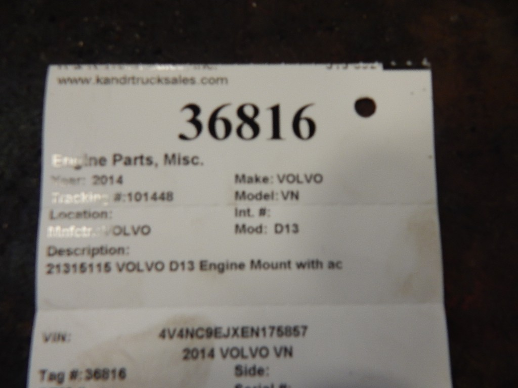 Engine Mounts for 2014 VOLVO VN for sale-59215519