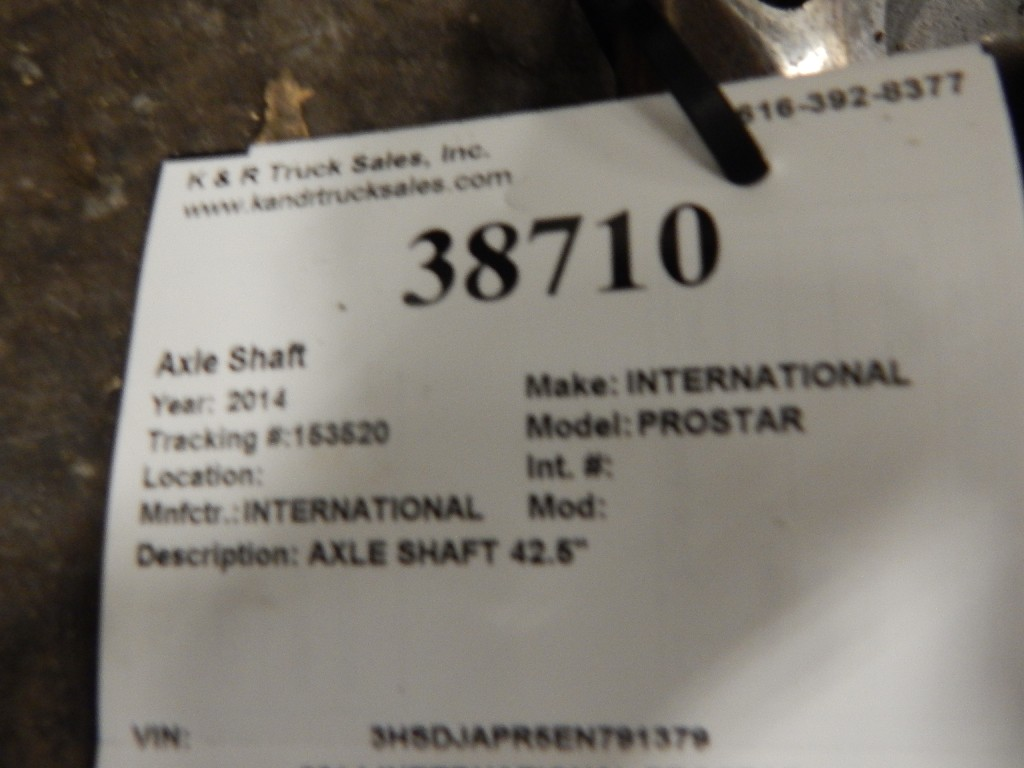 Axle Shaft for 2014 INTERNATIONAL PROSTAR for sale-59215692