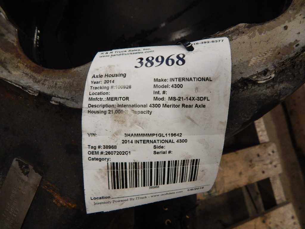 Axle Housing for 2014 INTERNATIONAL 4300 for sale-59215707