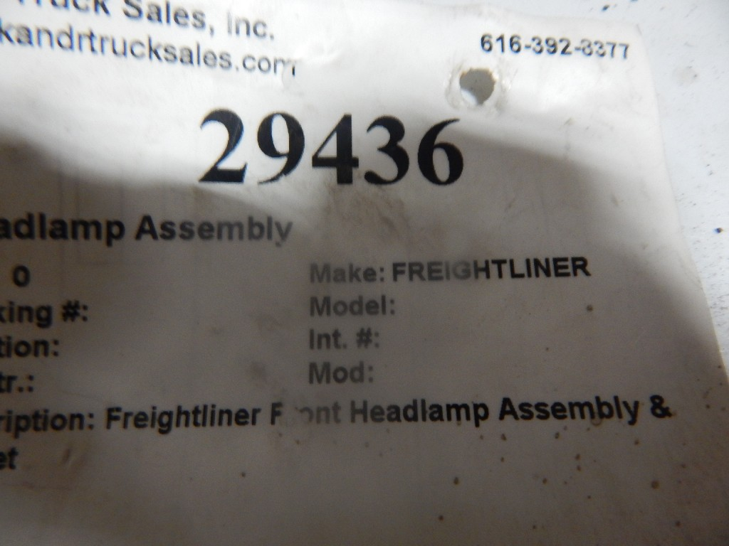 Headlamp Assembly for  FREIGHTLINER FLC120T CLASSIC for sale-59053040