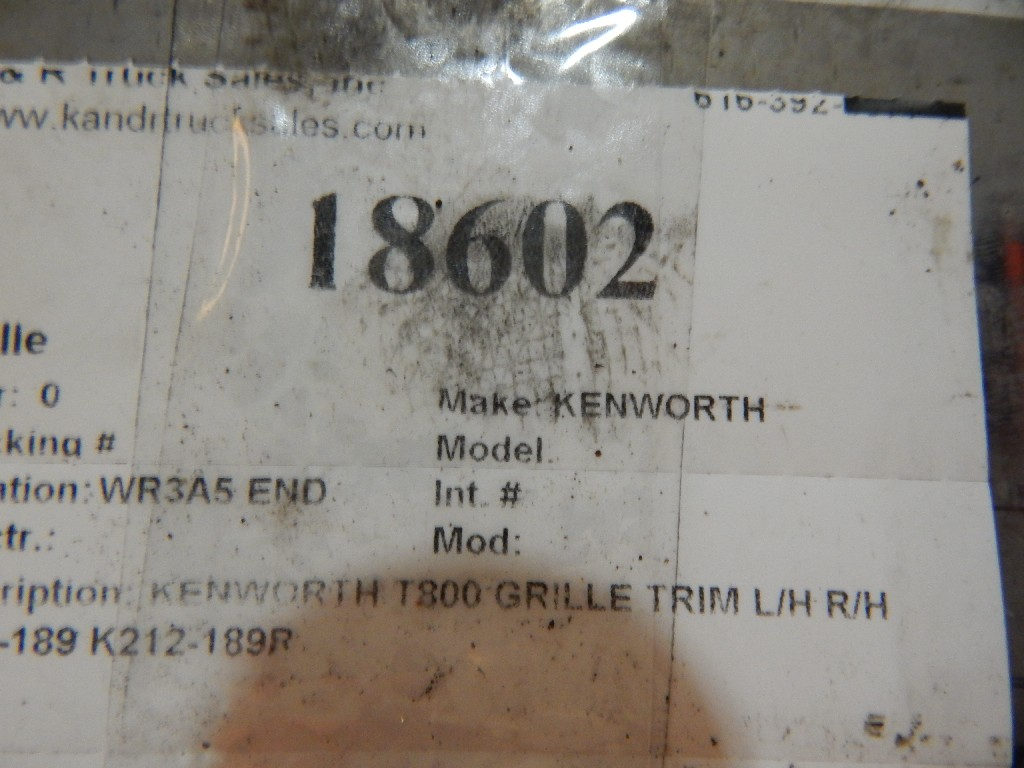 Grille for  KENWORTH for sale-59284784