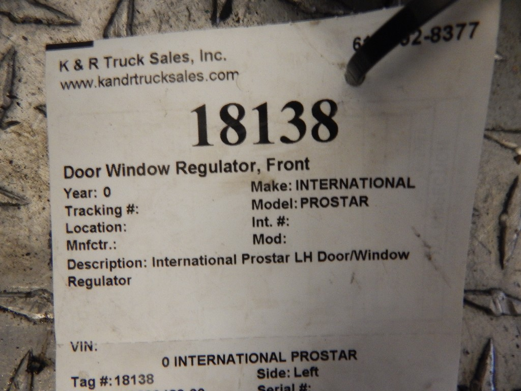 Door Window Regulator for  INTERNATIONAL PROSTAR for sale-59079878