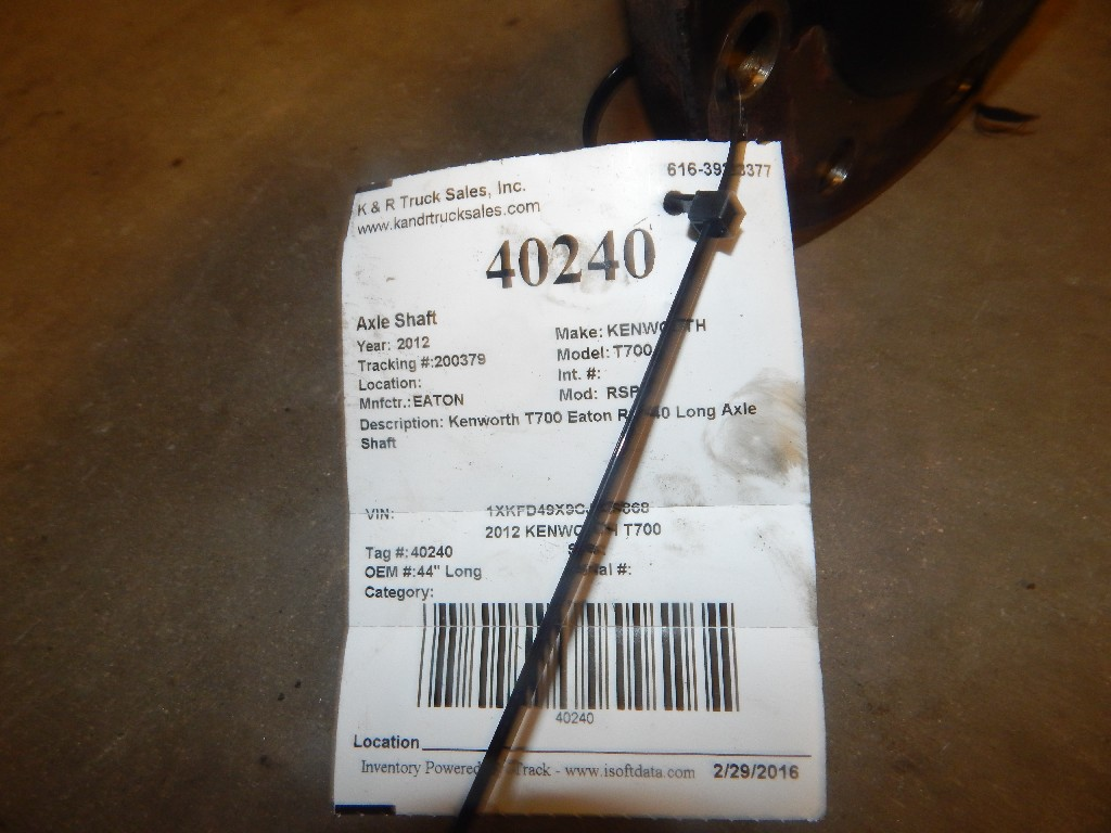 Axle Shaft for 2012 KENWORTH T700 for sale-59215799