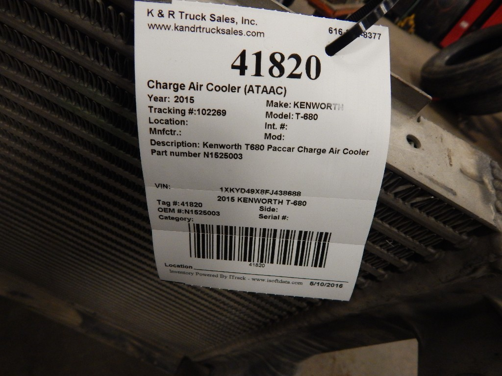 Charge Air Cooler (ATAAC) for 2015 KENWORTH T-680 for sale-59215922