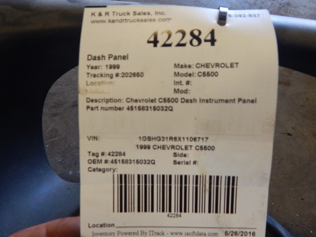 Dash Panel for 1999 CHEVROLET C5500 for sale-59081990