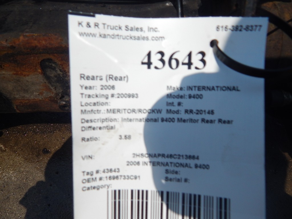 Axle Housing for 2006 INTERNATIONAL 9400 for sale-59082159