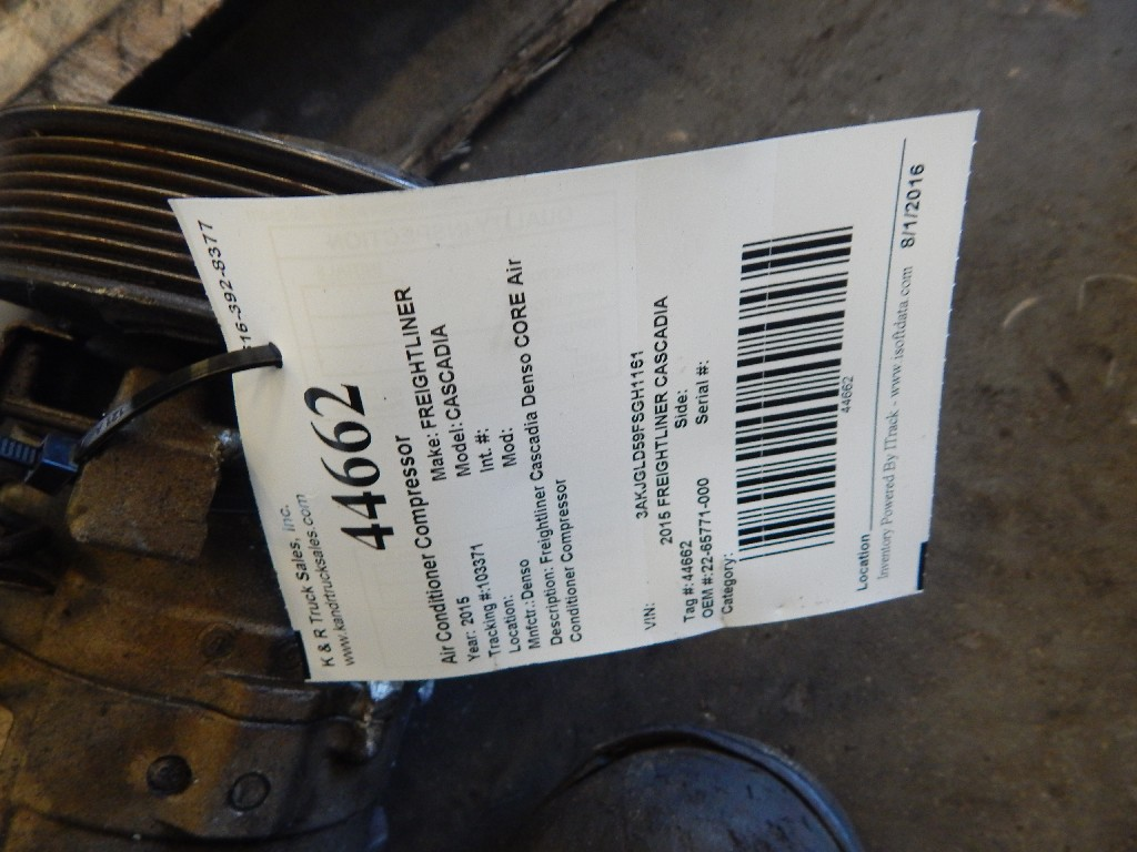 Air Conditioner Compressor for 2015 FREIGHTLINER CASCADIA for sale-58690441