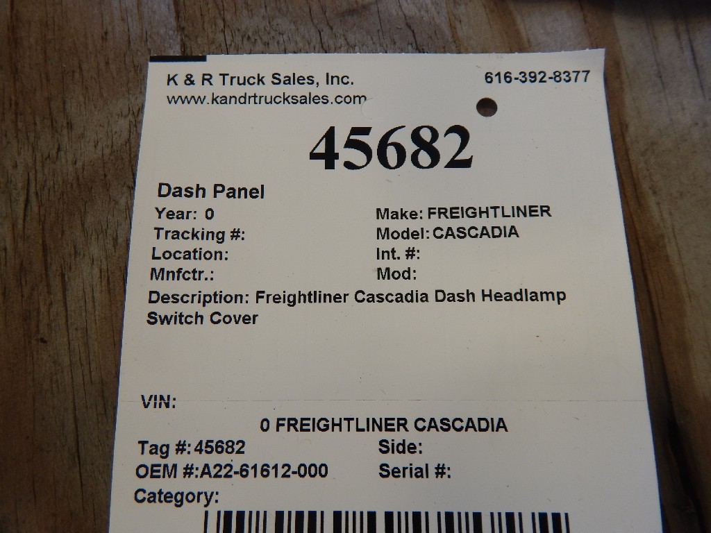 Dash Panel for  FREIGHTLINER CASCADIA for sale-59054929