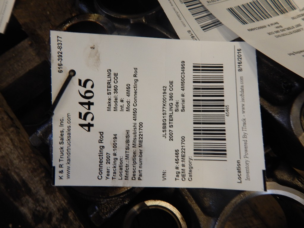 Engine Rod for 2007 STERLING 360 COE for sale-59216429