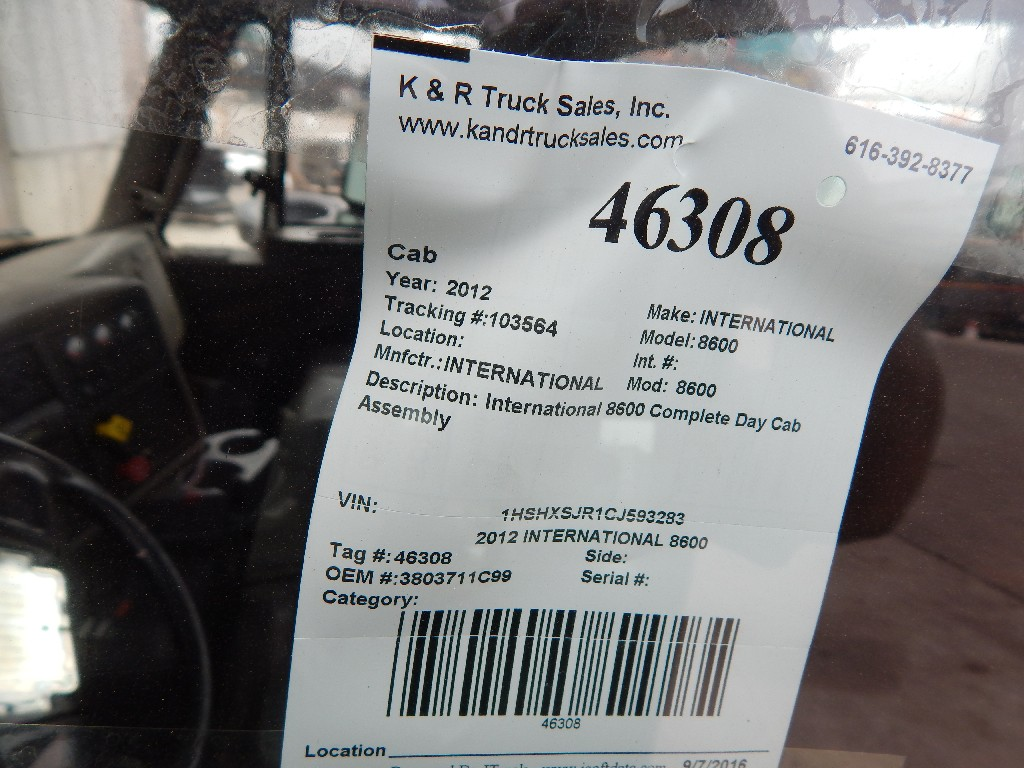 Cab for 2012 INTERNATIONAL 8600 for sale-59216545