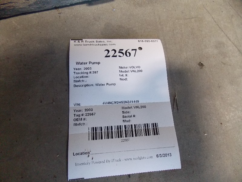 Water Pump for 2003 VOLVO VNL200 for sale-59080219