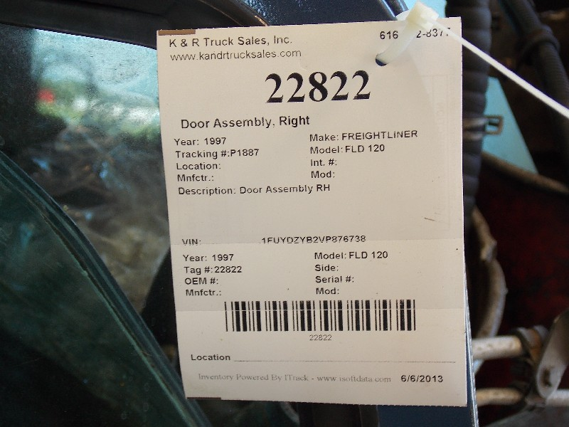 Door Assembly for 1997 FREIGHTLINER FLD 120 for sale-59070294