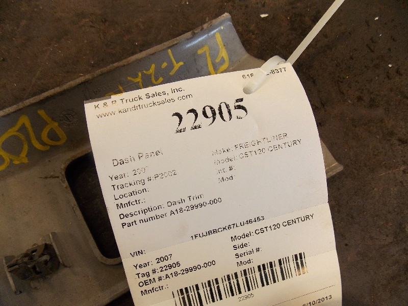 Dash Panel for 2007 FREIGHTLINER CST120 CENTURY for sale-59080238