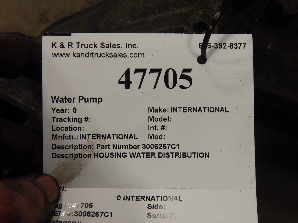 Water Pump for  INTERNATIONAL for sale-59216676