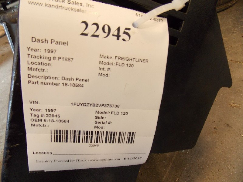 Dash Panel for 1997 FREIGHTLINER FLD 120 for sale-59070303