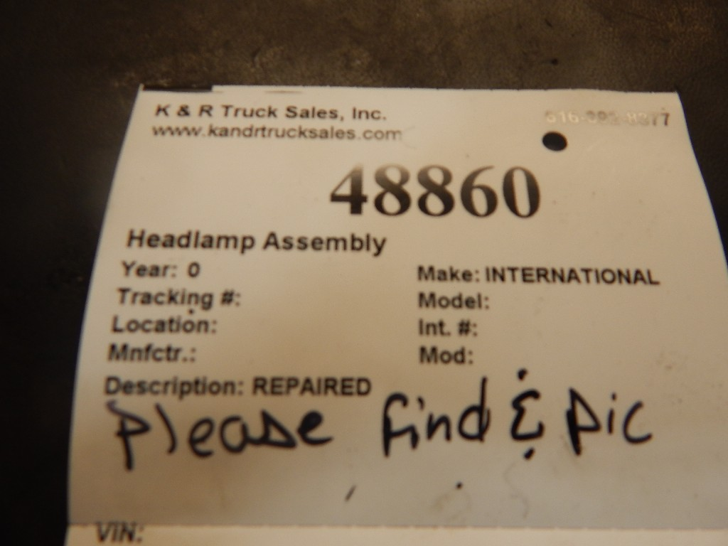 Headlamp Assembly for  INTERNATIONAL for sale-58698701
