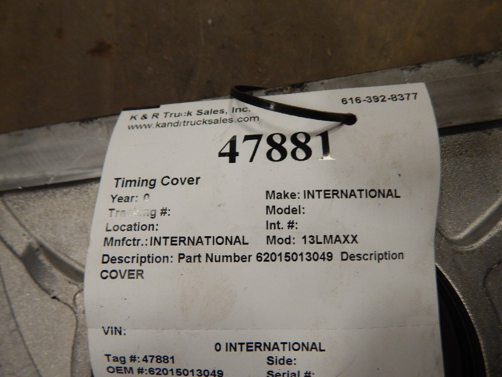 Engine Timing Cover for  INTERNATIONAL for sale-58697001