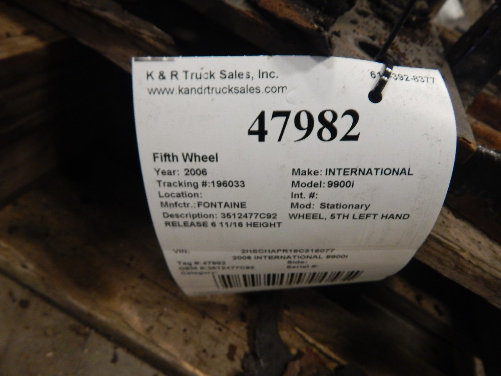 Fifth Wheel for 2006 INTERNATIONAL 9900i for sale-59055230