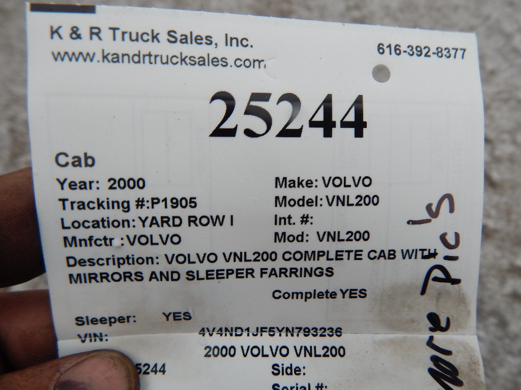 Cab for 2000 VOLVO VNL200 for sale-59070462