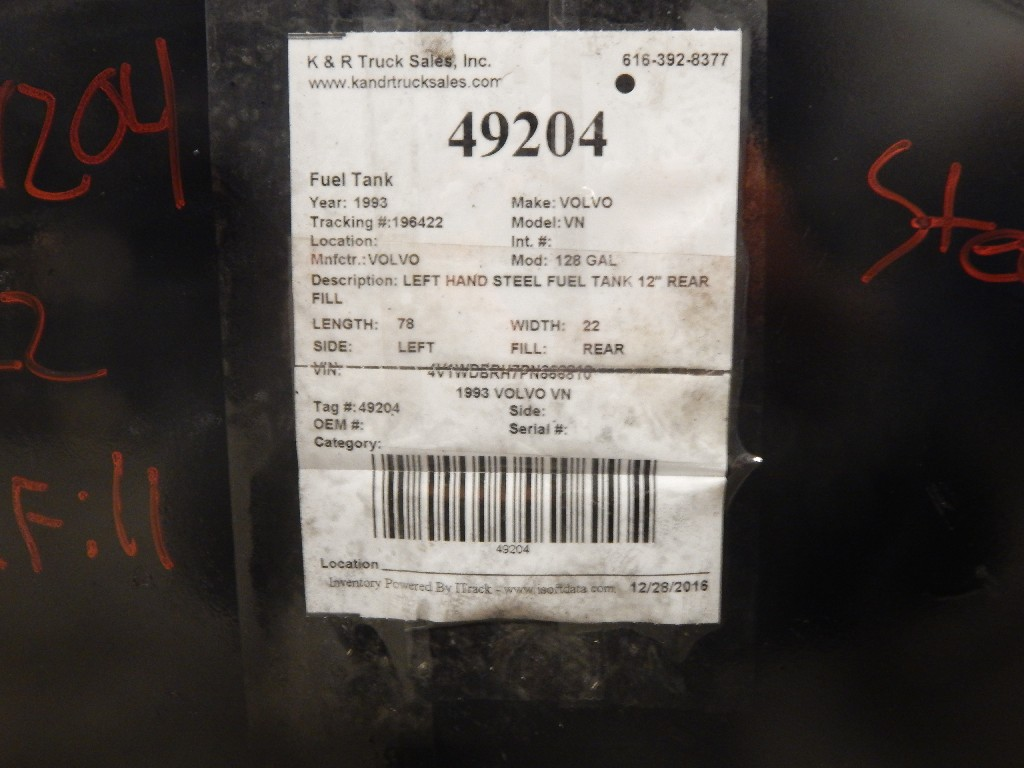 Fuel Tank for 1993 VOLVO VN for sale-58699281