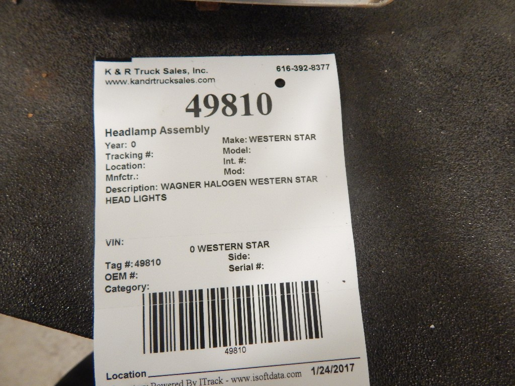 Headlamp Assembly for  WESTERN STAR for sale-59216896