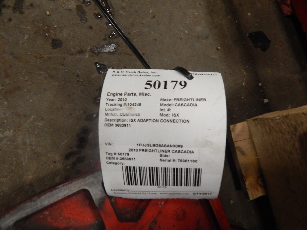 Parts for 2010 FREIGHTLINER CASCADIA for sale-58700621