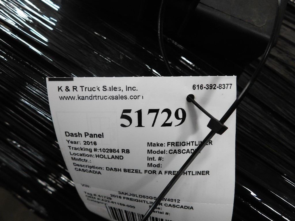 Dash Panel for 2016 FREIGHTLINER CASCADIA for sale-59055792