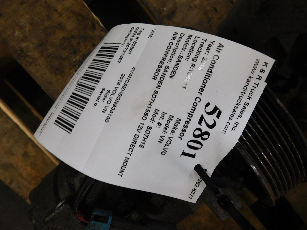 Air Conditioner Compressor for 2016 VOLVO VN for sale-58706591