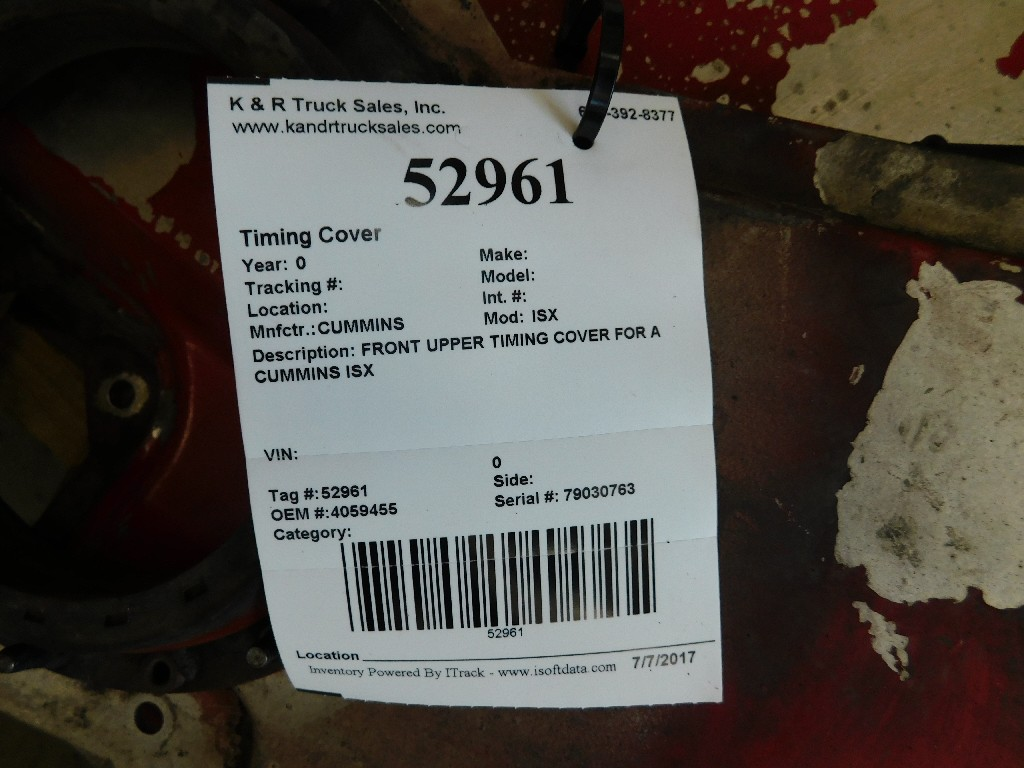 Engine Timing Cover for for sale-59217311